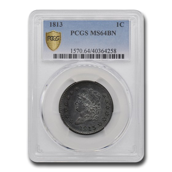 1813 Large Cent MS-64 PCGS (Brown)