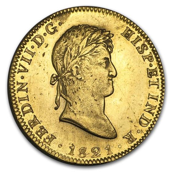 1814-1821 Mexico Gold 8 Escudos Ferdinand VII BU