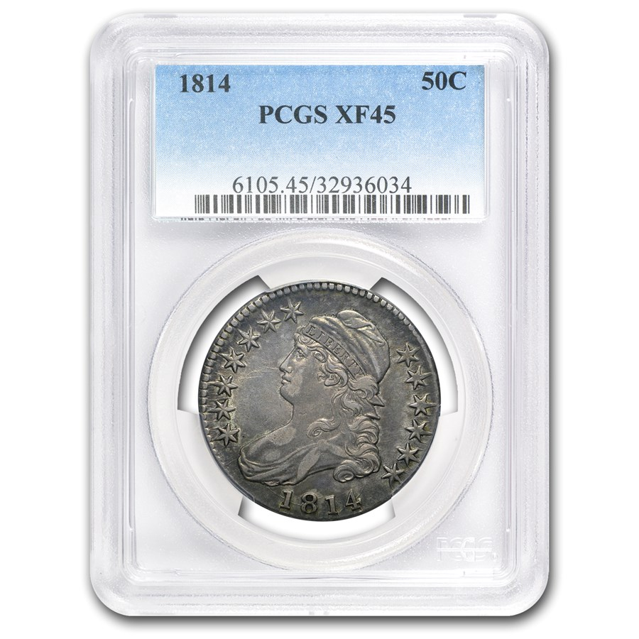 1814 Bust Half Dollar XF-45 PCGS
