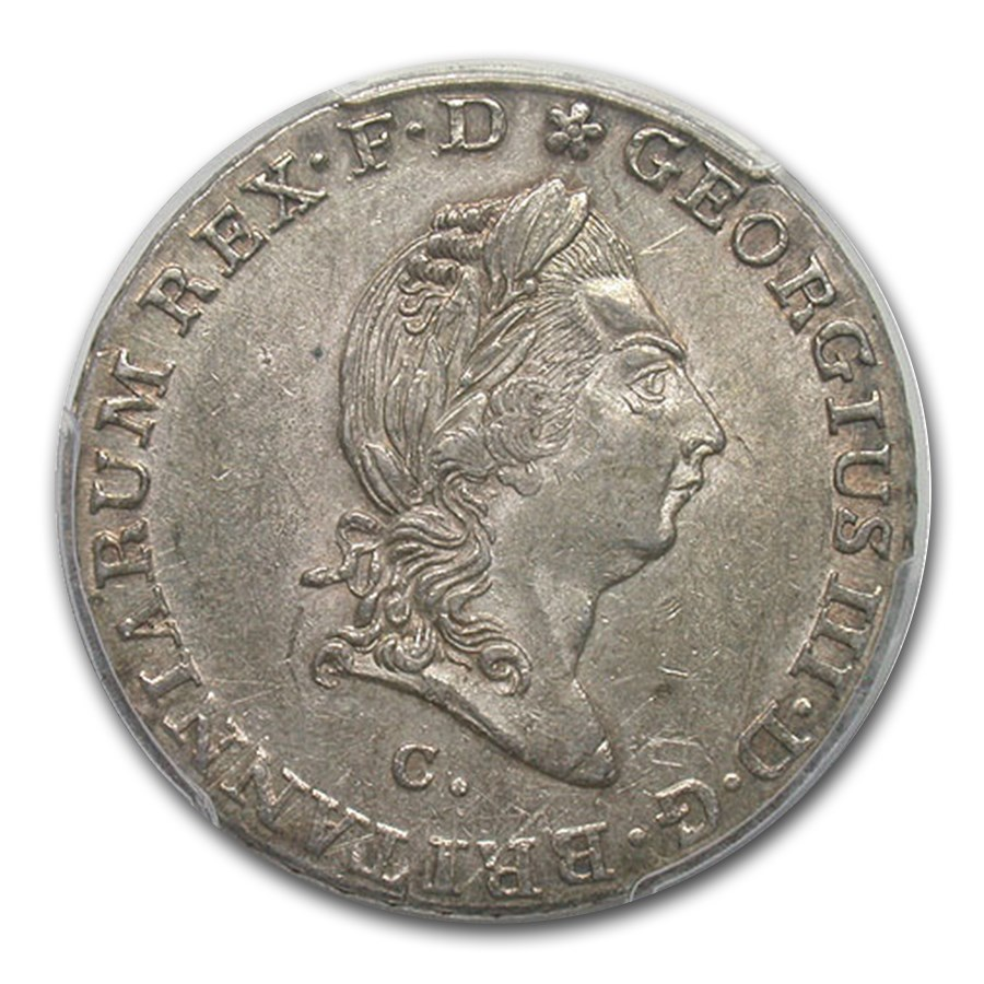1814-C Germany/Hannover Silver 2/3 Thaler AU-55 PCGS
