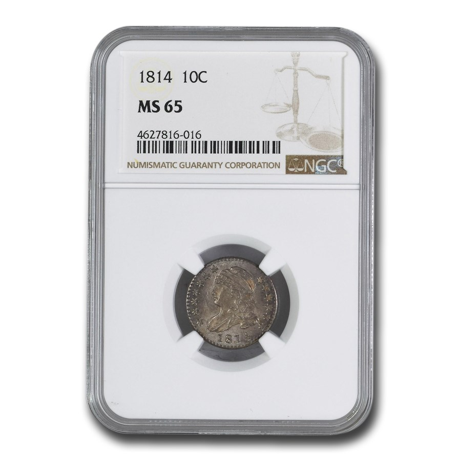 1814 Capped Bust Dime MS-65 NGC