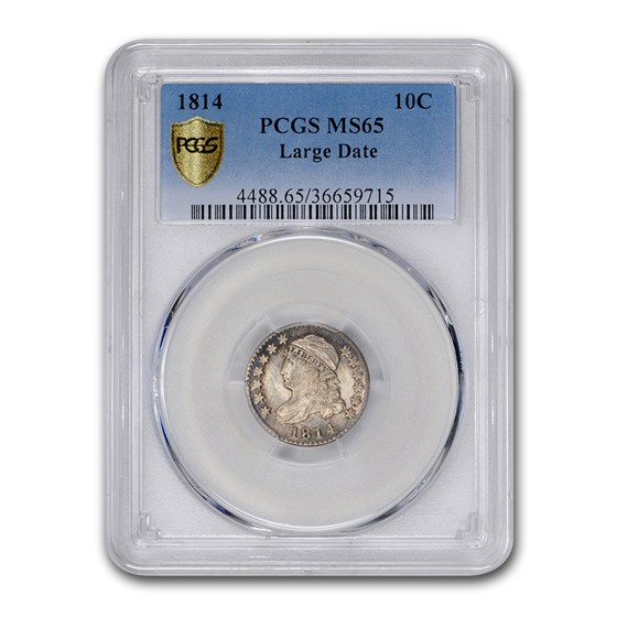 1814 Capped Bust Dime MS-65 PCGS (Large Date)