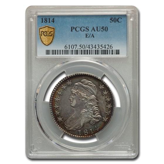 1814 Capped Bust Half Dollar AU-50 PCGS (E/A)