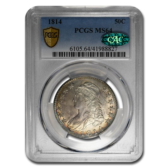 1814 Capped Bust Half Dollar MS-64 PCGS CAC