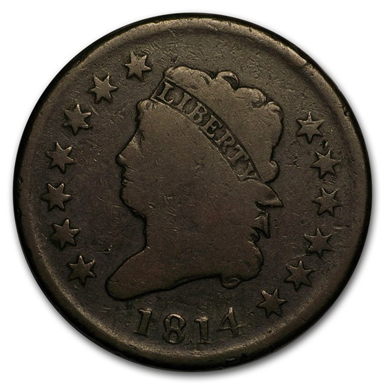 1814 Large Cent Plain 4 Good