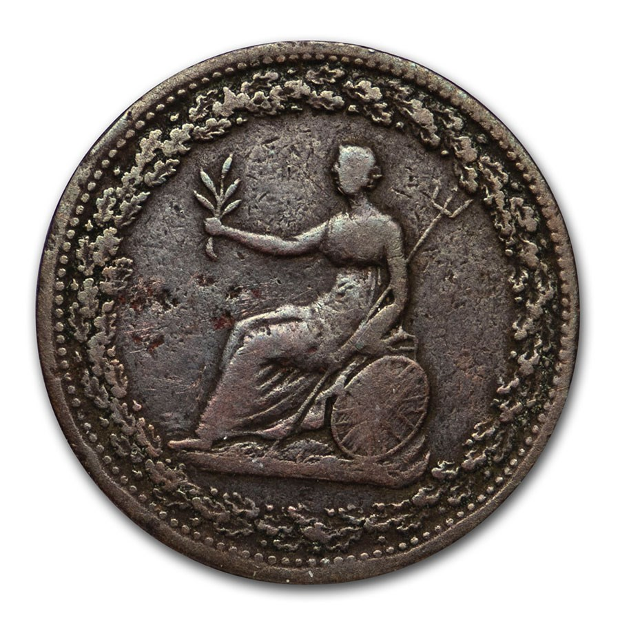 1815 Lower Canada 1/2 Penny Token VF