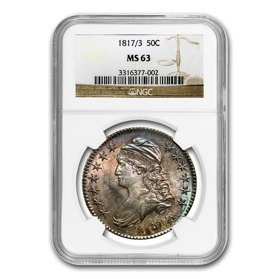 1817/3 Capped Bust Half Dollar MS-63 NGC