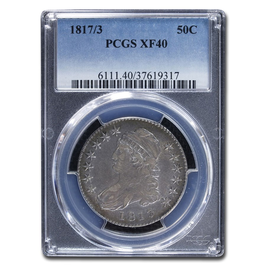 1817/3 Capped Bust Half Dollar XF-40 PCGS
