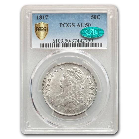 1817 Capped Bust Half Dollar AU-50 PCGS CAC