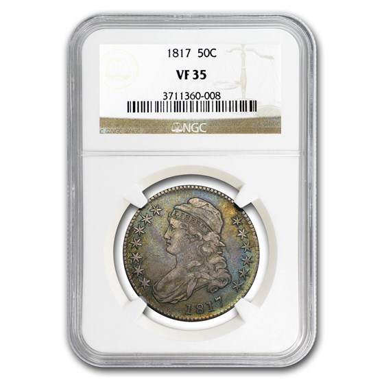 1817 Capped Bust Half Dollar VF-35 NGC