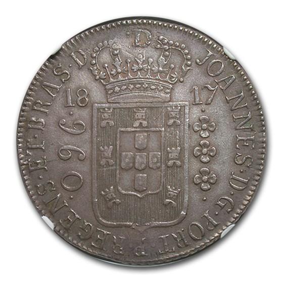 1817-R Brazil Silver 960 Reis XF-45 NGC