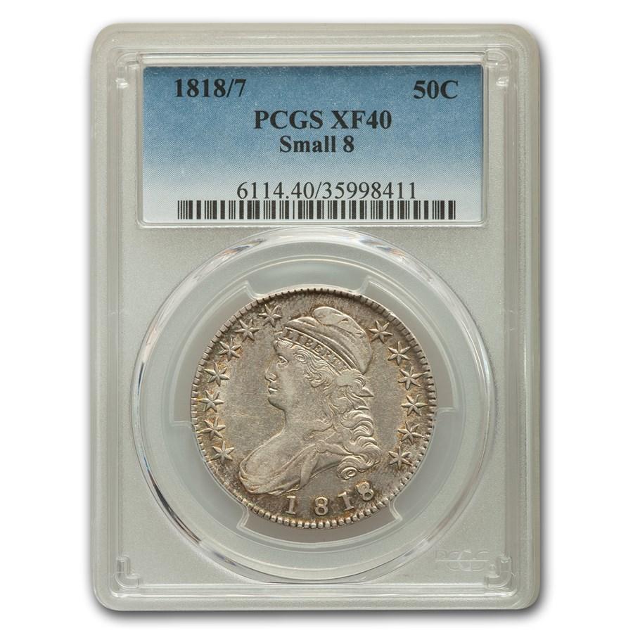 1818/7 Bust Half Dollar XF-40 PCGS (Small 8)