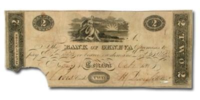 1818 Bank of Geneva, NY $2 NY-930, VF COUNTERFEIT