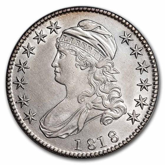 1818 Bust Half Dollar AU