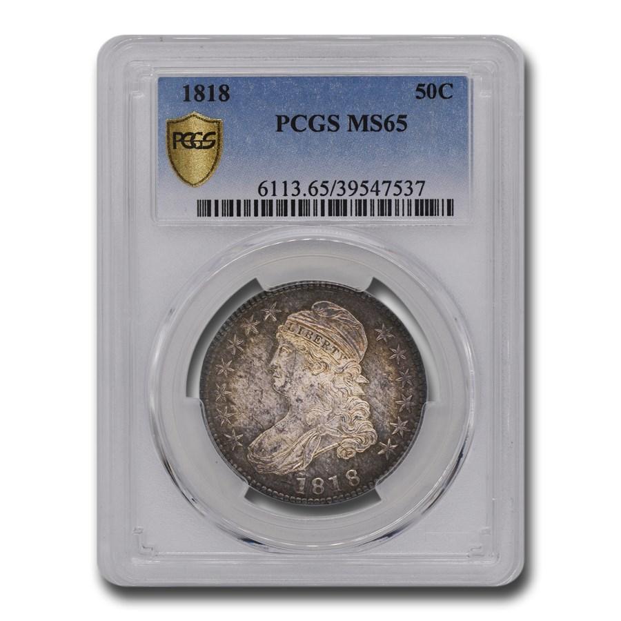 1818 Bust Half Dollar MS-65 PCGS
