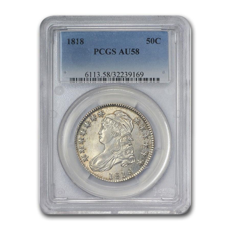 1818 Capped Bust Half Dollar AU-58 PCGS