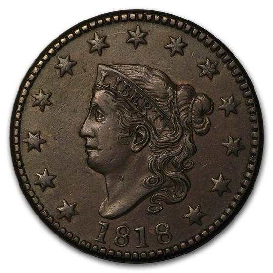 1818 Large Cent AU