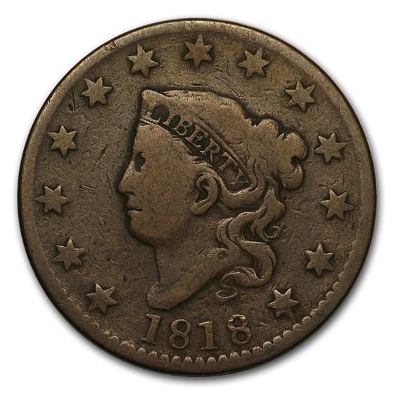 1818 Large Cent VG