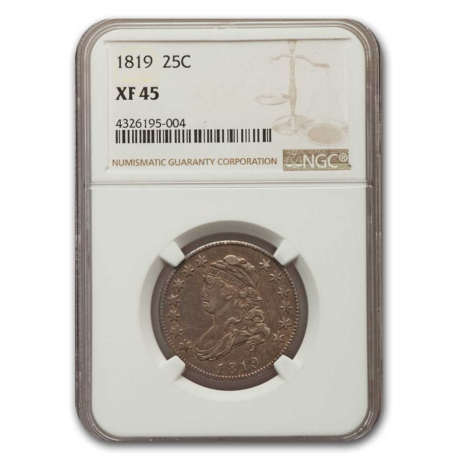 1819 Capped Bust Quarter XF-45 NGC