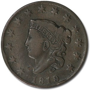 1819 Large Cent Sm Date VF Details