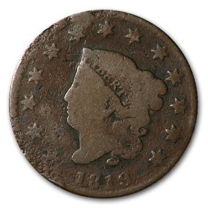 1819 Large Cent Small Date Good