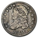 1821 Capped Bust Dime Large Date Fine