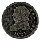 1821 Capped Bust Dime Large Date Good