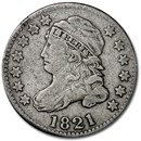 1821 Capped Bust Dime Large Date VF