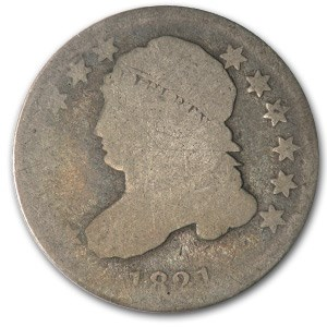 1821 Capped Bust Dime Small Date Good