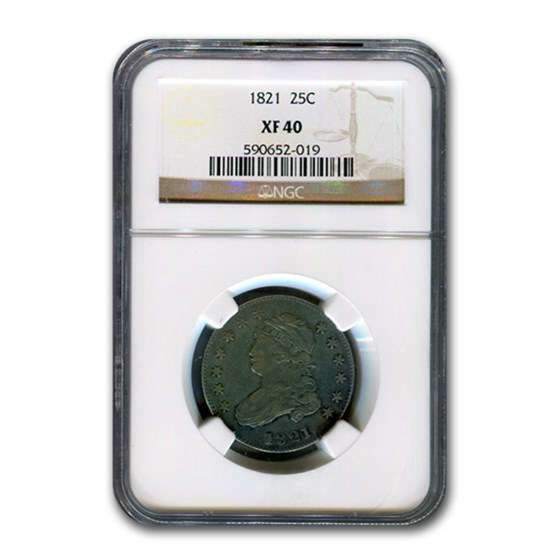 1821 Capped Bust Quarter XF-40 NGC