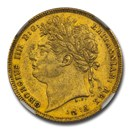 1821 Great Britain Gold Sovereign George IV AU-58 NGC