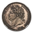 1821 Great Britain Silver Crown George IV MS-64 NGC