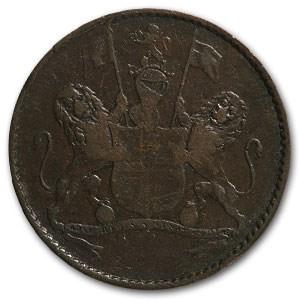 1821 St. Helena 1/2 Penny VF
