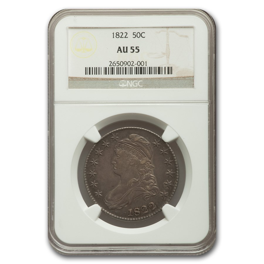 1822 Capped Bust Half Dollar AU-55 NGC
