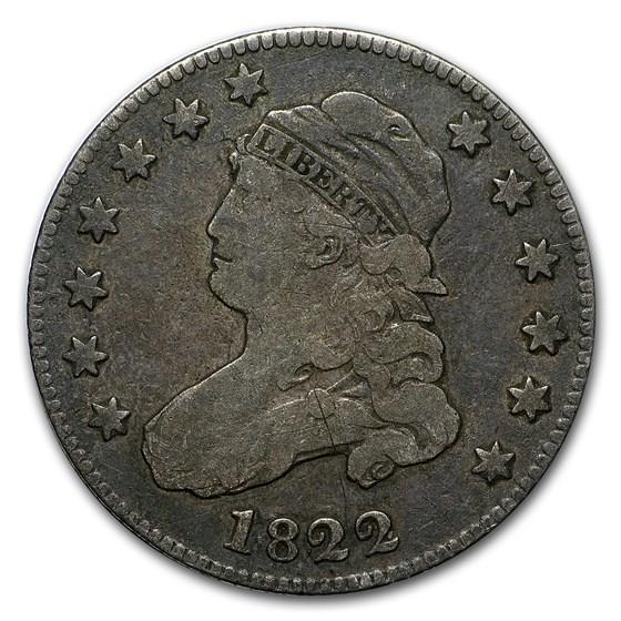 1822 Capped Bust Quarter Fine