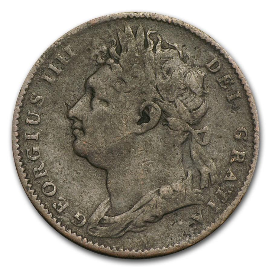 1822 Great Britain Farthing George IV VF