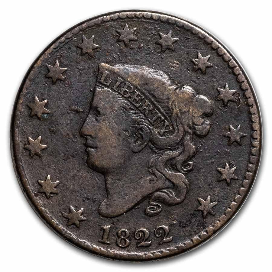1822 Large Cent VG