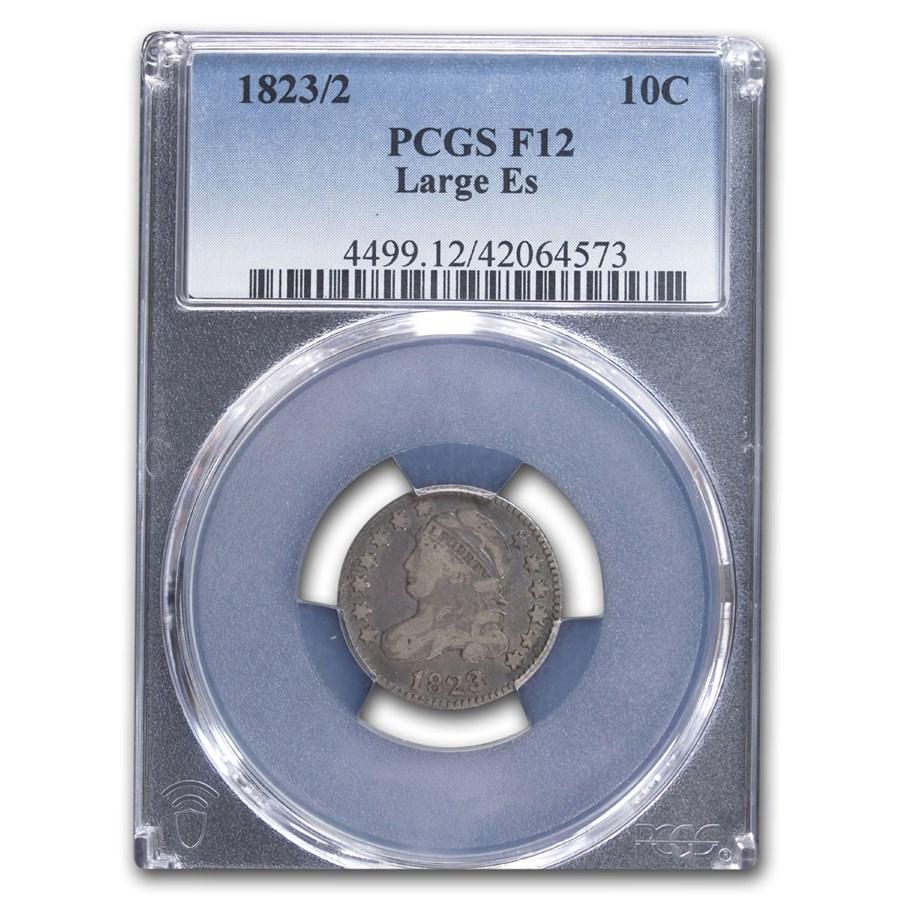 1823/2 Capped Bust Dime Fine-12 PCGS (Large E's)