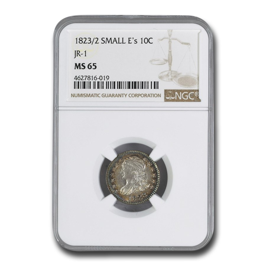 1823/2 Capped Bust Dime MS-65 NGC (Small E's JR-1)