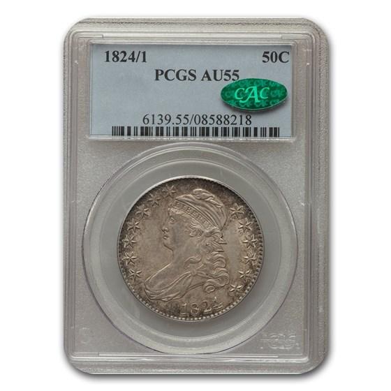 1824/1 Capped Bust Half Dollar AU-55 PCGS CAC