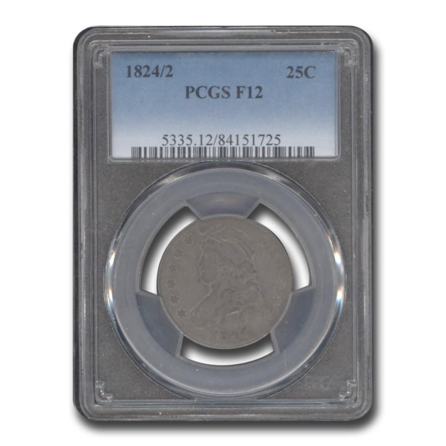 1824/2 25C Bust Quarter Fine-12 PCGS