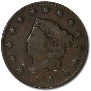 1824/2 Large Cent Fine-15