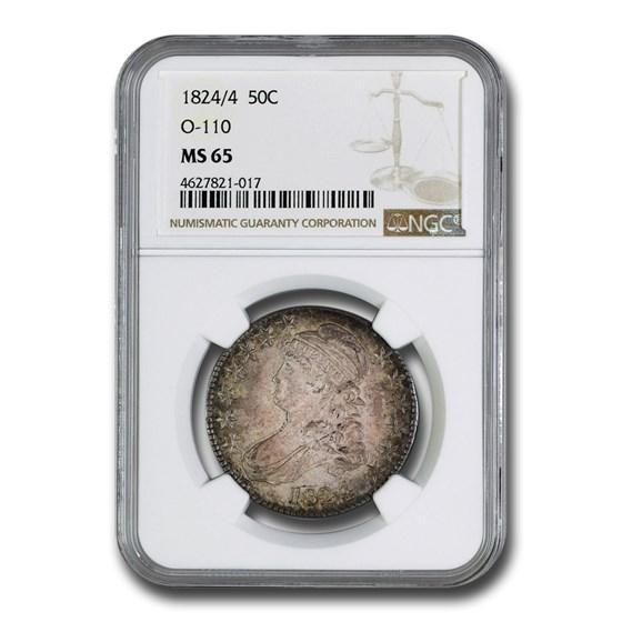 1824/4 Bust Half Dollar MS-65 NGC (O-110)