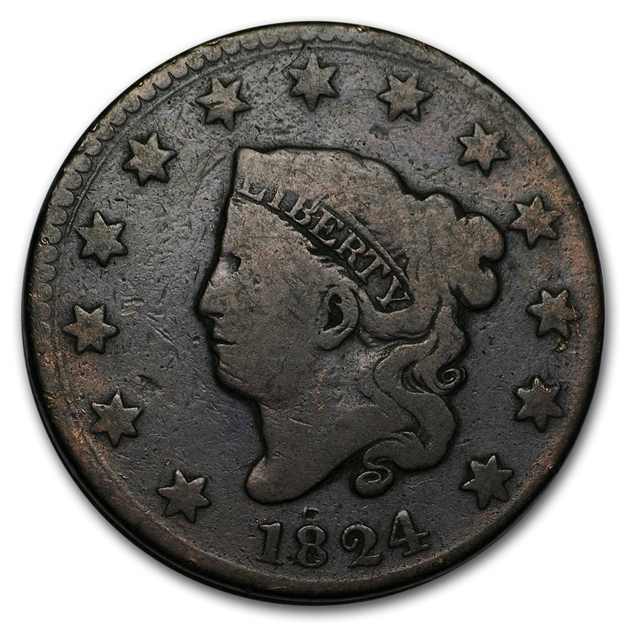 1824 Large Cent Good