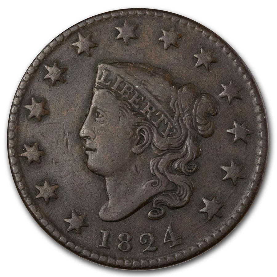 1824 Large Cent VF