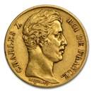 1825-1830 France Gold 20 Francs Charles X (Avg Circ)
