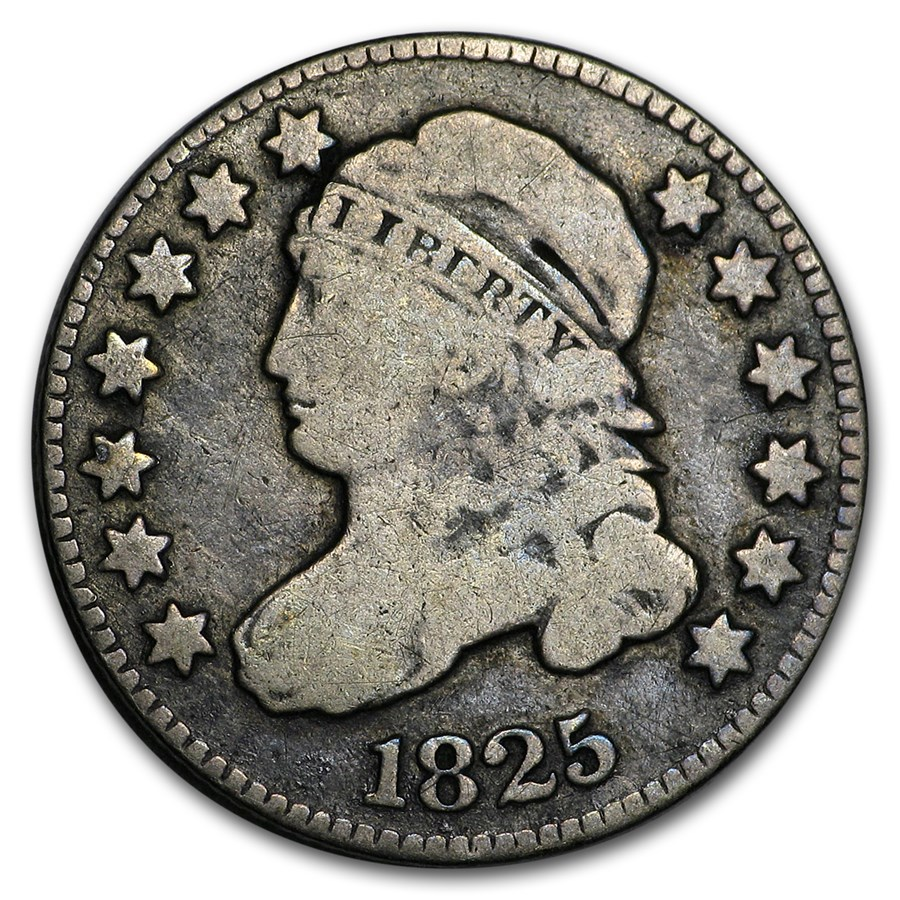 1825 Capped Bust Dime VG