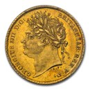 1825 Great Britain Gold Half-Sovereign George IV MS-63 PCGS