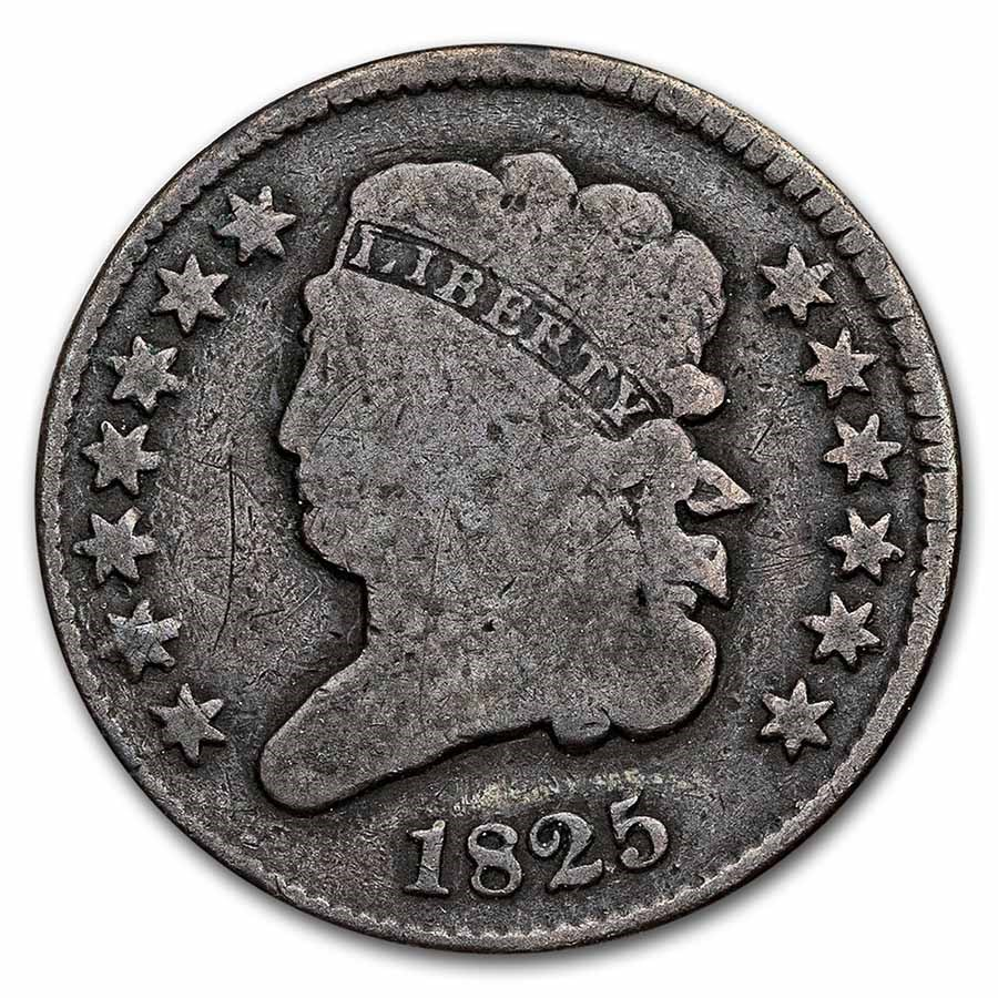 1825 Half Cent Good