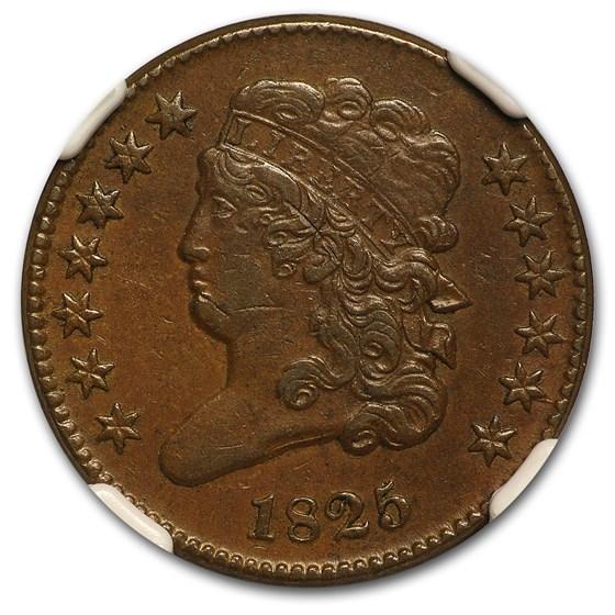 1825 Half Cent XF-45 NGC